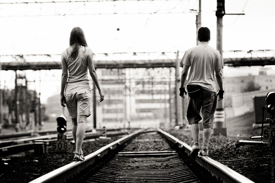 We walk the same direction but different sides of the road...М